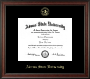 Adams State University  Diploma Frame - Gold Embossed Diploma Frame in Studio