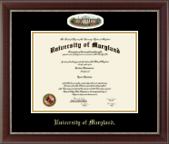University of Maryland, College Park Diploma Frame - Campus Cameo Diploma Frame in Chateau