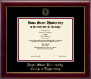Iowa State University Diploma Frame - Gold Embossed Diploma Frame in Gallery