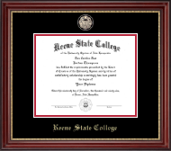 Keene State College Diploma Frame - Masterpiece Medallion Diploma Frame in Kensington Gold
