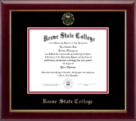 Keene State College Diploma Frame - Gold Embossed Diploma Frame in Gallery