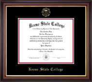 Keene State College Diploma Frame - Gold Embossed Diploma Frame in Regency Gold