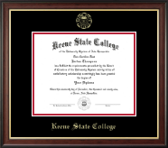 Keene State College Diploma Frame - Gold Embossed Diploma Frame in Studio Gold