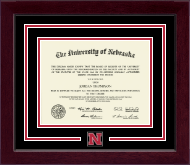 University of Nebraska Diploma Frame - Spirit Medallion Diploma Frame in Cordova