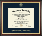 Quinnipiac University Diploma Frame - Gold Embossed Diploma Frame in Studio Gold
