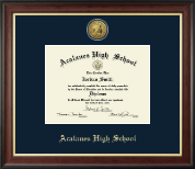 Acalanes High School in California Diploma Frame - Gold Engraved Medallion Diploma Frame in Studio Gold