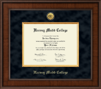 Harvey Mudd College Diploma Frame - Presidential Gold Engraved Diploma Frame in Madison