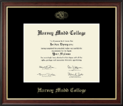 Harvey Mudd College Diploma Frame - Gold Embossed Diploma Frame in Studio Gold