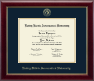 Embry-Riddle Aeronautical University Diploma Frame - Gold Embossed Diploma Frame in Gallery