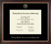 Embry-Riddle Aeronautical University Diploma Frame - Gold Embossed Diploma Frame in Studio Gold