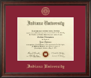 Indiana University Bloomington Diploma Frame - Gold Embossed Diploma Frame in Studio