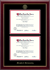 Stanford University Diploma Frame - Double Diploma Frame in Gallery