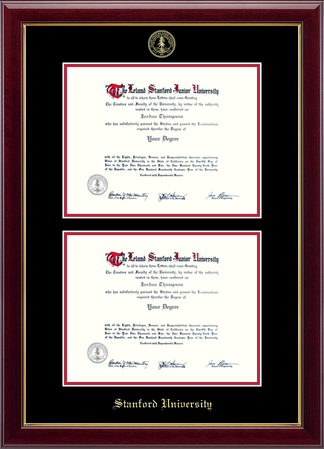 Stanford University Double Diploma Frame in Gallery - Item #228262 ...