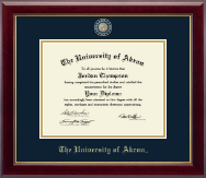 The University of Akron Diploma Frame - Masterpiece Medallion Diploma Frame in Gallery