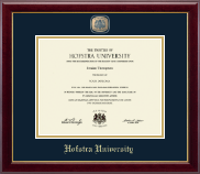 Hofstra University Diploma Frame - Masterpiece Medallion Diploma Frame in Gallery