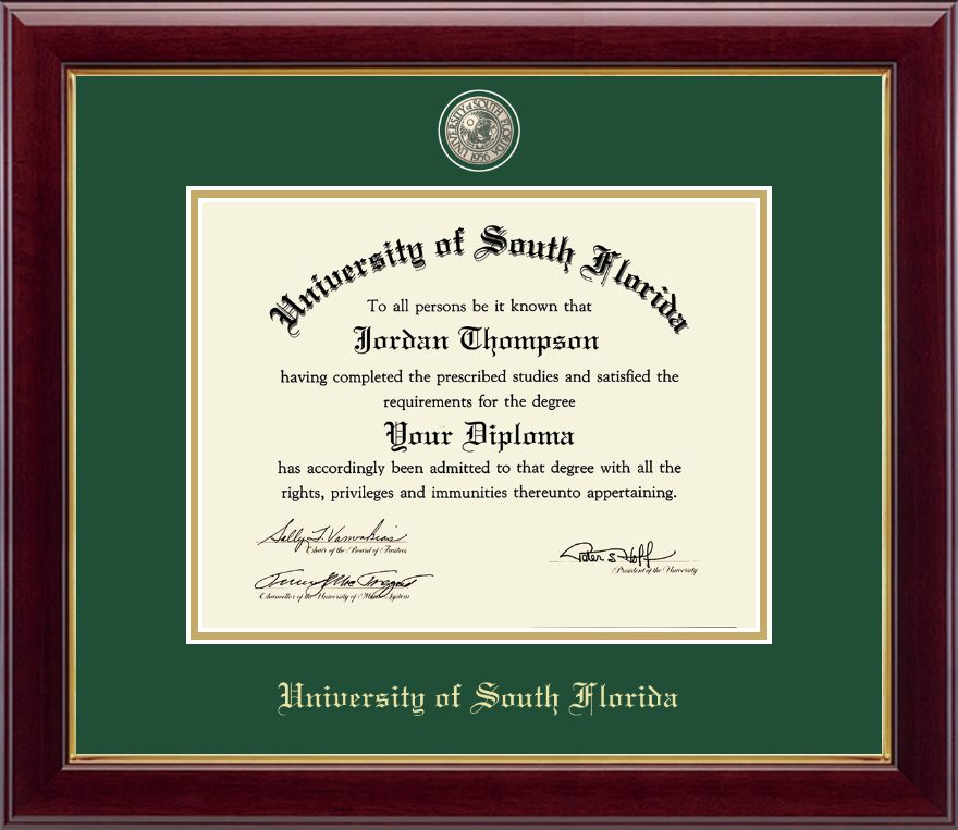 University Of South Florida Masterpiece Medallion Diploma