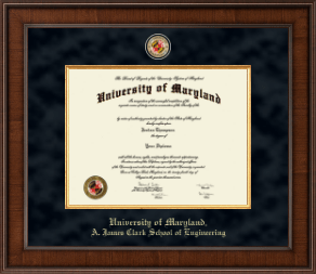 Umd Diploma Frames For A James Clark School Of