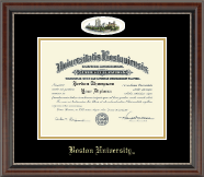 Boston University Diploma Frame - Campus Cameo Diploma Frame in Chateau