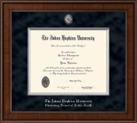 Johns Hopkins University Diploma Frame - Presidential Masterpiece Diploma Frame in Madison