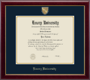 Emory University  Diploma Frame - Masterpiece Medallion Diploma Frame in Gallery