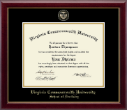 Virginia Commonwealth University Diploma Frame - Dentistry - Masterpiece Medallion Diploma Frame in Gallery