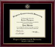 Virginia Commonwealth University Diploma Frame - Medicine - Masterpiece Medallion Diploma Frame in Gallery