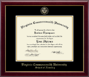 Virginia Commonwealth University Diploma Frame - Nursing - Masterpiece Medallion Diploma Frame in Gallery