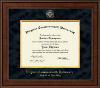 Virginia Commonwealth University Diploma Frame - Dentistry - Presidential Masterpiece Diploma Frame in Madison