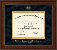 Virginia Commonwealth University Diploma Frame - Medicine - Presidential Masterpiece Diploma Frame in Madison