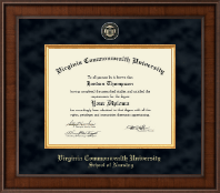 Virginia Commonwealth University Diploma Frame - Nursing - Presidential Masterpiece Diploma Frame in Madison