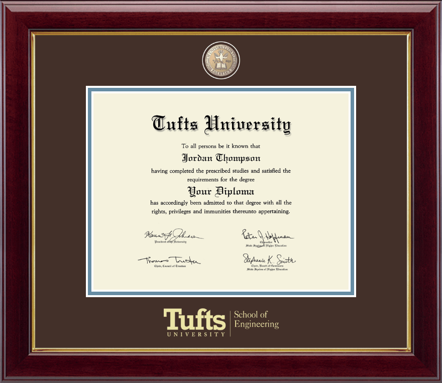Tufts University Masterpiece Medallion Diploma Frame In