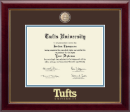 Tufts University Diploma Frame - Masterpiece Medallion Diploma Frame in Gallery