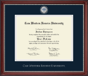 Case Western Reserve University Diploma Frame - Masterpiece Medallion Diploma Frame in Kensington Silver