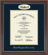 West Virginia University Diploma Frame - Campus Cameo Diploma Frame in Chateau