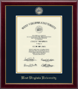 West Virginia University Diploma Frame - Masterpiece Medallion Diploma Frame in Gallery