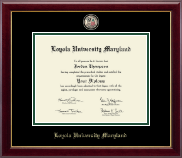 Loyola University Maryland Diploma Frame - Masterpiece Medallion Diploma Frame in Gallery