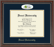Drexel University Diploma Frame - Campus Cameo Diploma Frame in Chateau