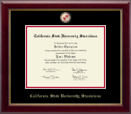 California State University Stanislaus Diploma Frame - Masterpiece Medallion Diploma Frame in Gallery