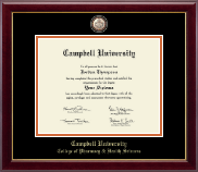 Campbell University Diploma Frame - Masterpiece Medallion Diploma Frame in Gallery