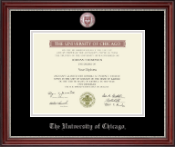 University of Chicago Diploma Frame - Masterpiece Medallion Diploma Frame in Kensington Silver