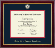 University of Houston Downtown Diploma Frame - Masterpiece Medallion Diploma Frame in Gallery