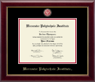 Worcester Polytechnic Institute Diploma Frame - Masterpiece Medallion Diploma Frame in Gallery