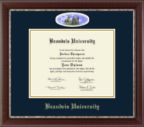 Brandeis University Diploma Frame - Campus Cameo Diploma Frame in Chateau