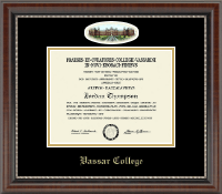 Vassar College Diploma Frame - Campus Cameo Diploma Frame in Chateau
