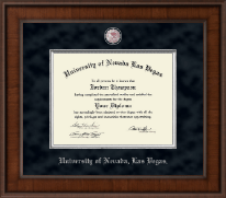 University of Nevada Las Vegas Diploma Frame - Presidential Pewter Masterpiece Diploma Frame in Madison