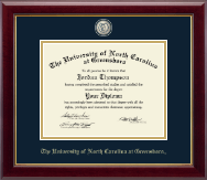 The University of North Carolina Greensboro Diploma Frame - Masterpiece Medallion Diploma Frame in Gallery