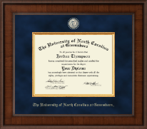 The University of North Carolina Greensboro Diploma Frame - Presidential Masterpiece Diploma Frame in Madison