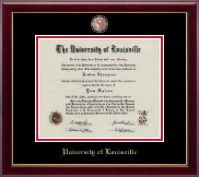 University of Louisville Diploma Frame - Masterpiece Medallion Diploma Frame in Gallery