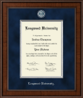 Longwood University Diploma Frame - Presidential Masterpiece Diploma Frame in Madison