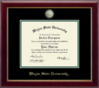 Wayne State University Diploma Frame - Masterpiece Medallion Diploma Frame in Gallery